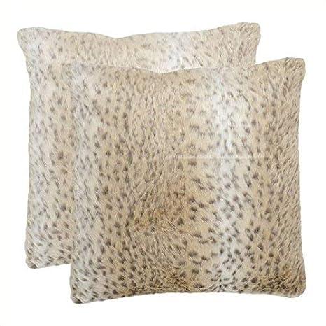 Amazon.com: Safavieh almohadas Collection Snow Leopard ...