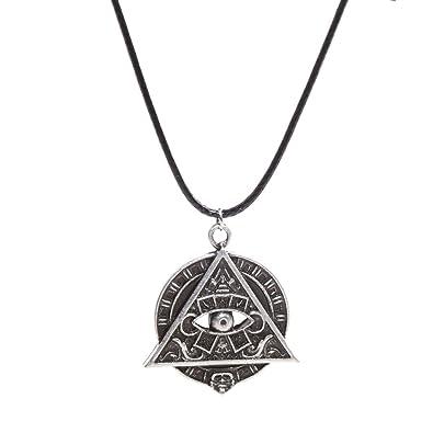 Handmade Jewellery Mayan Pyramid All Seeing Eye Mayan Icon Pagan