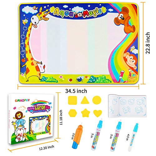 GMAOPHY Aqua Magic Doodle Mat, Large Colorful Water Drawing Mat For Kids - $20.95