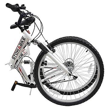 Stowabike – Bicicleta de montaña, 26 V2 plegable doble suspensión, 18 velocidades Shimano bicicleta