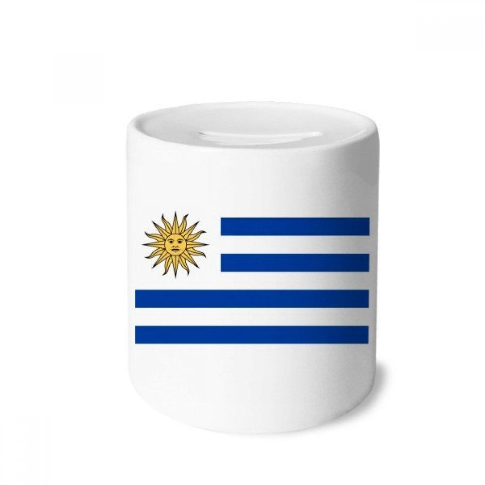 DIYthinker Uruguay Bandera Nacional América del Sur País Caja de Dinero de Las Cajas de ahorros de cerámica Adultos Moneda de la Caja para niños