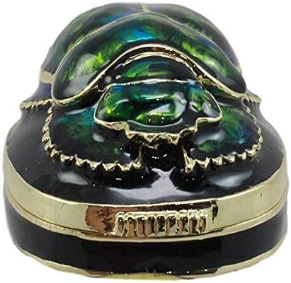 Amazon.com: Ebros Ancient Egyptian Pewter Scarab Jewelry Box ...