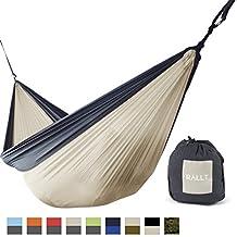 Rallt Camping Hammock - Ripstop Parachute Nylon, Lightweight & Portable, Includes Hanging Gear