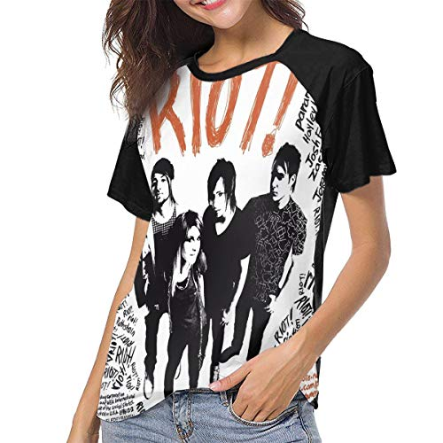Paramore Woman Classic Baseball Short Sleeve Tee Shirt -