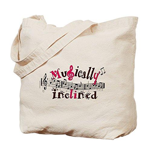 CafePress - Musically Inclined - Natural Canvas Tote Bag, Cloth Shopping Bag