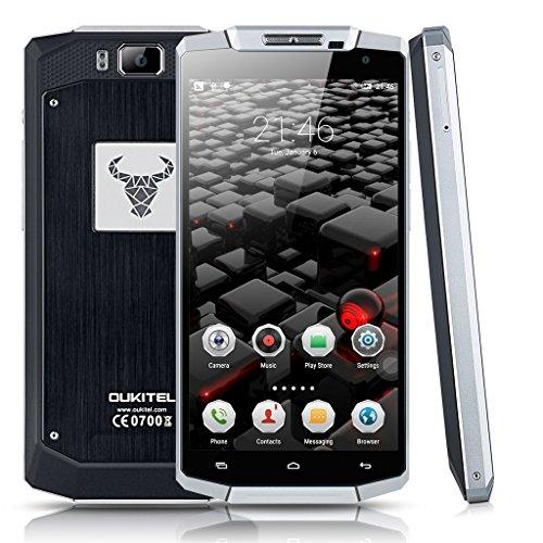 OUKITEL K10000 Android 5.1 Quad Core Smartphone 5.5 Zoll IPS HD Bildschirm 4G Dual SIM Dual Kamera 16GB Speicher WIFI Schwarz