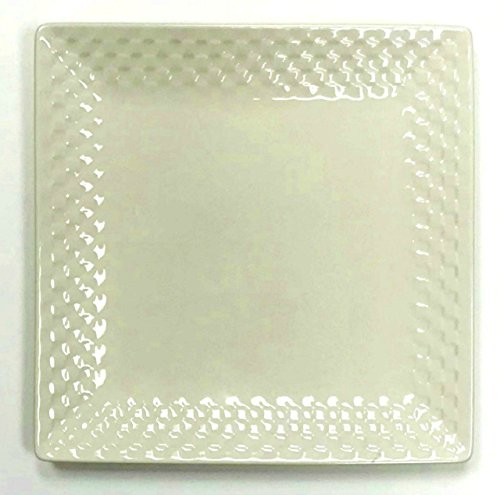 Roscher Porcelain Basket Weave Pattern Square Dinner Plate | 1 Replacement Piece