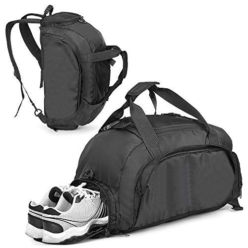 Sports Gym Bag with Shoes Compartment 3-Way Travel Luggage Duffel Bag Hiking Backpack for Men and Women