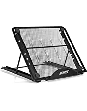 Tablet Light Box Stand , AGPtek Metal Mesh Ventilated Adjustable 7 Angle Points Skidding Prevented Tracing Holder Stand for Huion Drawing Tablet /iPad/Laptop/A4 LB4 L4S LED Light Box