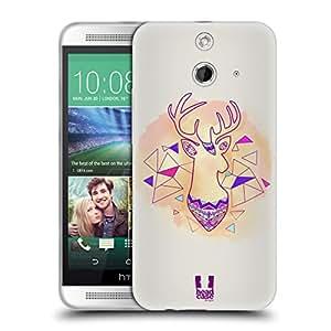 Head Case Designs Acquarell Diseño con animales aztecas Soft Gel Carcasa Para Móviles HTC 2, compatible con Kompatibilität: HTC One E8 LTE / HTC One E8 Dual SIM