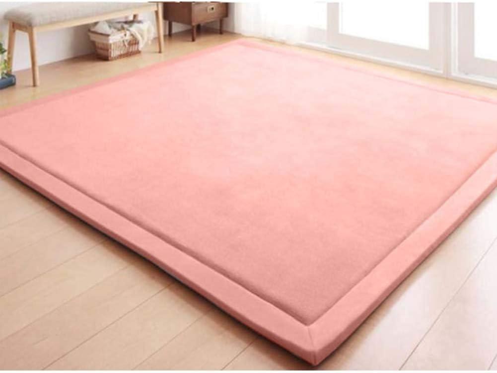 Japanese Floor Futon Mattress Pad,Premium Tatami Sleeping Mattress Topper,Soft Coral Velvet Carpet,Children Crawling Mat Yoga Mat-a Twin XL