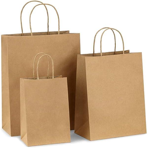 Amazon.com: bagdream Kraft bolsas de papel 100pcs 5.25