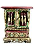Blue Orchid Thai Handmade Decorative Wood Jewelry Cabinet Ornate Jeweled Trinket Boxes Hinged 10'' (Emerald)