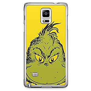 Loud Universe Grinch Face Scary Samsung Note 4 Case Classic Book Samsung Note 4 Cover with Transparent Edges