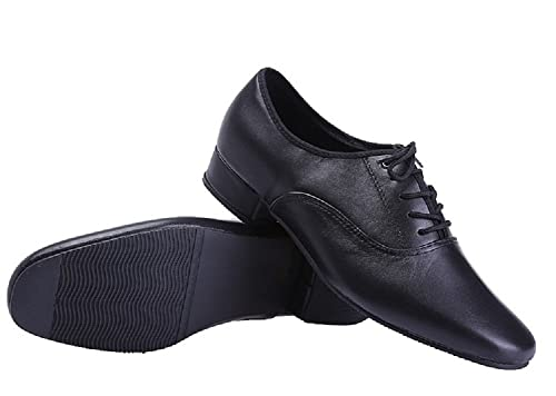 Amazon Com Beibestcoat Black Modern Outdoor Dancing Shoes Lace Up