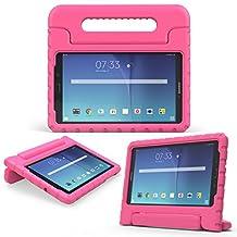 MoKo Samsung Galaxy Tab E 8.0 Case - Kids Shock Proof Convertible Handle Light Weight Super Protective Stand Cover for Samsung Galaxy Tab E 8.0 Inch SM-T377 4G LTE Tablet, MAGENTA