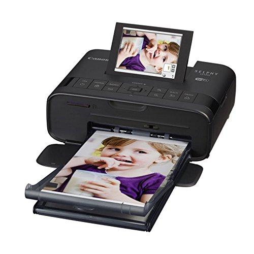 Canon SELPHY CP1300 Wireless Compact Photo Printer with AirPrint and Mopria Device Printing, Black - Battery Cp 1 Laptop