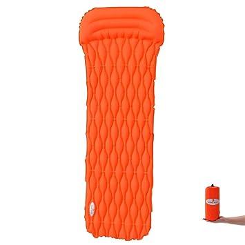 HIKEMAN Easy - Saco de Dormir Hinchable Ultraligero con Almohada cómoda, diseño para Senderismo,