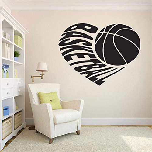 madeno Vinyl Wall Decal Wall Stickers Art Decor Basketball Lover Sports Sign Boy Kids Room Decoration