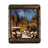 WIHVE Throw Blanket Window Winter Starry Sky City Lightweight Warm Cozy Microfiber Blankets Travelling Camping 50 x 60 Inch, All Season for Couch or Bed