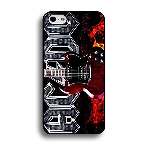 iPhone 6Plus/6S Plus (5.5inch) ACDC Band Coque Shell Magic Creative Guitar With Fire Hard Music Rock Band designed AC/DC Phone Case Cover For Iphone 6Plus/6S Plus (5.5inch)