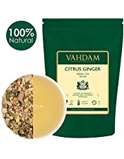 Tè Alle Erbe Di Agrumi, 200g (100 tazze) | DETOX Tea | Ginger, Lemongrass, Orange Peel, Mint - Ginger Tea leaf con deliziose note di agrumi | Herbal Tea | Infusi e tisane dall'India