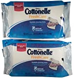 Cottonelle Fresh Care Flushable Cleansing Cloths Refills 2-42 Count Packages - Packaging May Vary