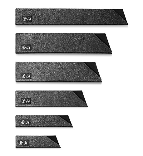 Cangshan 61741 6-Piece Knife Edge Guard Set, Black (Knife Sleeve)