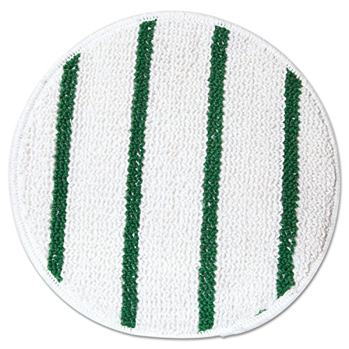 Carpet Bonnet, 17 in, White w/Green Stripe