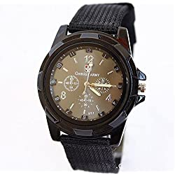 Men's watches luxury brand sport military Gemius Army Racing Force Military Mens Officer Fabric Band Watch MEN