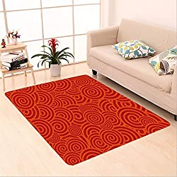 Sophiehome skid Slip rubber back antibacterial  Area Rug china red vector seamless background 13703365 Home Decorative