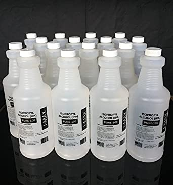 Isopropyl Alcohol 99 5+% - 4 Gallons (16 quarts) 100% Purity - Rubbing  Alcohol