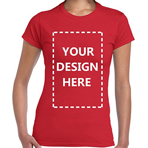 Own Red T-shirt - Baranovo Woman Custom Add Your Own Design Photo Text Name Here Cotton T Shirts Red XL