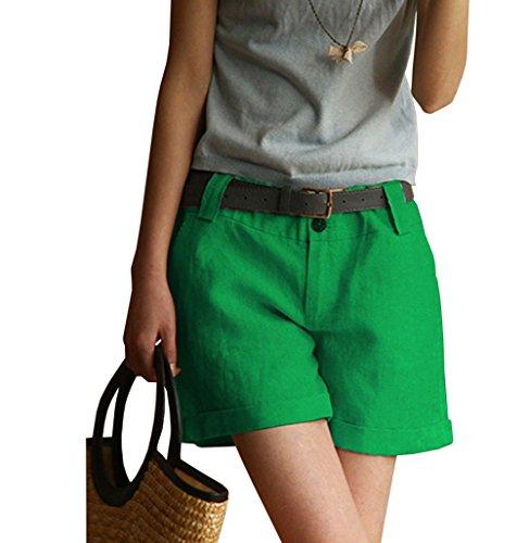 持参スキャンダラス洋服[RSWHYY] レディース ショートパンツ ベルト無し ボタン付き 蒸れない ゆったり ファッション 普段着