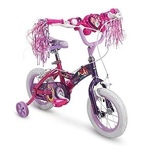 Huffy Bicycle Company Disney Princess Girls Bike with Training Wheels, Pink/Purple