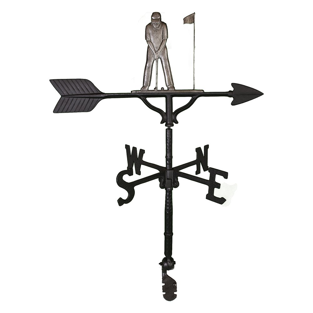 Montague Metal Products 32-Inch Weathervane with Swedish Iron Putter Ornament