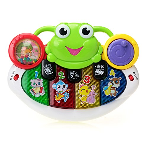 Baby Toys KAWO Frog Piano Dual Projection Musical Toys with Flash Light Play (Abc Family 13 Days Of Halloween)
