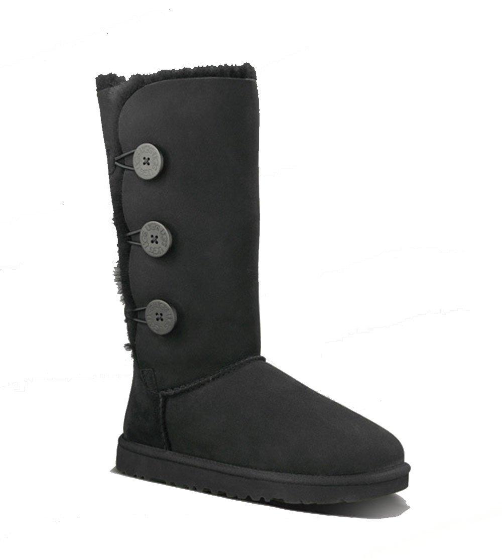 Australia Womens Bailey Button Triplet Boot,Black,37 M EUR/6 B(M) US by UGG