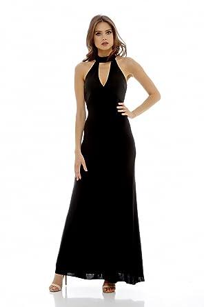 b6a37fac476 Amazon.com  AX Paris Women s High Neck Maxi Dress  Clothing