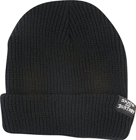 e27806a6a64 Image Unavailable. Image not available for. Color  Thrasher Magazine  Skategoat Skate And Destroy Black Beanie Hat