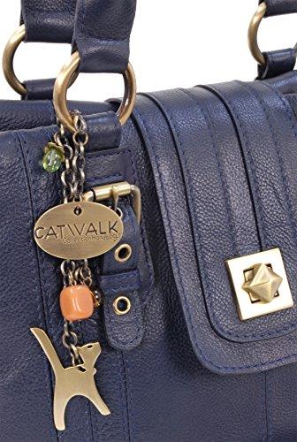 Marine twist Kate signé Sac Fermeture Bleu Collection en main à Catwalk lock cuir x0aq7tHwa
