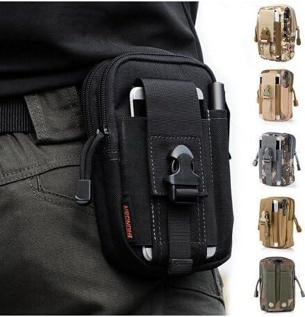 Men/'s Business Leather W// Zipper Tactical Belt Pouch Waist Bag Purse Pack US