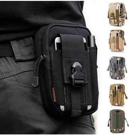 Hainan Mens Bag Accessories Belt Fanny Pack Waist Pouch Backpack Tactical Mini Black