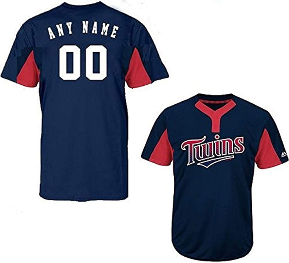 Majestic Minnesota Twins Blank Back or Custom (Any Name/#) 2-Button Licensed Jersey