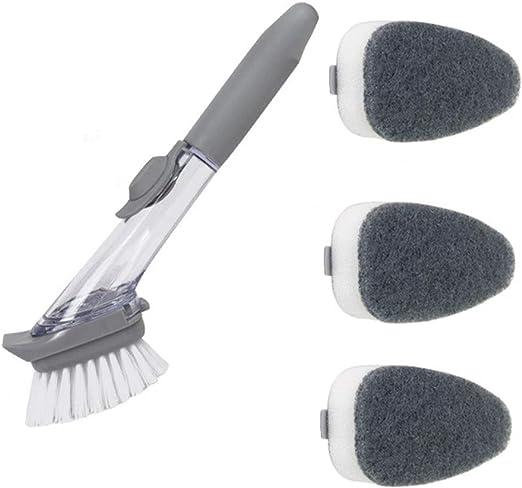 Kitchen Brush Soap Dispenser Dish Brush With Soap Dispenser Soap Dispensing  Brush Pack of 2 Brushes Home & Kitchen