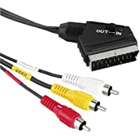 Hama 043178 - Cable de vídeo Euro-3RCA, 1,5 m (in-out)