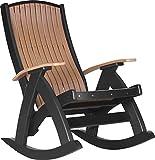 LuxCraft Poly Comfort Rocker (Cedar & Black) For Sale