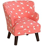 Kid's Bird Silhouette Bittersweet Upholstered Chair - 19 inches wide x 19 inches deep x 21 inches high