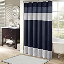"Madison Park MP70-2206 Amherst Shower Curtain 72x72"" Navy,72x72"""