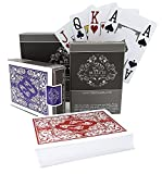 Double pack of professional playing cards - professional casino style poker cards for texas holdem - premium jumbo index with four pips'